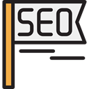 Seo And Web, web, flag, seo Black icon