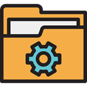storage, file storage, Data Storage, Files And Folders, Folder, interface, Office Material SandyBrown icon
