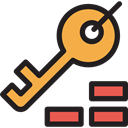 Passkey, Tools And Utensils, Key, Door Key, password, Access, security, pass Black icon