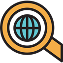 search, zoom, education, study, Seo And Web, Tools And Utensils, research, magnifying glass Black icon