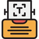 writing, Page, typewriter, miscellaneous, sheet, Writing Tool SandyBrown icon