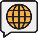 Communication, Chat, Multimedia, Seo And Web, speech bubble, Conversation WhiteSmoke icon