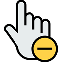 computer mouse, Mouse Clicker, clicker, ui, Hands And Gestures, Gestures, Finger, Gesture, Multimedia Option Lavender icon