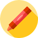 Draw, write, Tools And Utensils, Files And Folders, education, Crayon Khaki icon