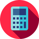Technological, calculator, Calculating, Files And Folders, maths, technology Crimson icon