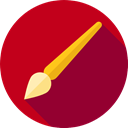 Brush, paint brush, Brushes, Artist, Files And Folders, Tools And Utensils, Edit Tools, Art, Painter, Painting Firebrick icon