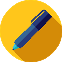 Tools And Utensils, Files And Folders, pencil, writing, Pen, Office Material, School Material Gold icon