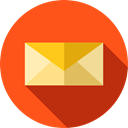 mail, Tools And Utensils, Message, web, Email, Note, envelope OrangeRed icon
