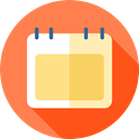 date, Calendar, Administration, Tools And Utensils, interface, Calendars, Schedule, Organization, time Coral icon