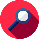 magnifying glass, search, zoom, Tools And Utensils, detective, Magnifier, Loupe Crimson icon