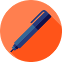 Office Material, Tools And Utensils, Pen, pencil, miscellaneous, writing, School Material Coral icon