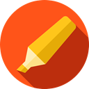 Tools And Utensils, Highlighter, Drawing, permanent, underline, Draw, Edit OrangeRed icon