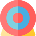 archer, Archery, sport, Arrow, Arrows, Target, weapons, Sports And Competition, objective Salmon icon