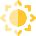 weather, Sports And Competition, meteorology, Sunny, Summertime, nature, warm, summer, sun Black icon