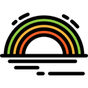 Atmospheric, sun, spectrum, landscape, Rainbow, nature Black icon