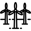 Windmills, Eolian, mill, nature, Windmill, technology, Ecological, ecology, Ecologic Black icon