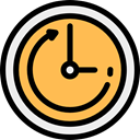 hour, Wait, counterclockwise, Tools And Utensils, Clock, Time Left, Time And Date SandyBrown icon
