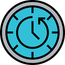 Time And Date, Clock, counterclockwise, hour, Time Left, Wait, Tools And Utensils MediumTurquoise icon