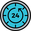 Tools And Utensils, Wait, Clock, counterclockwise, Time And Date, hour, Time Left MediumTurquoise icon