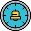 Alarm, alarm clock, Time And Date, timer, time, Tools And Utensils, Clock MediumTurquoise icon