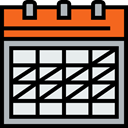 Schedule, interface, Calendar, Checked, Administration, Calendars, Organization, date, time, Time And Date Lavender icon