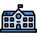 education, college, buildings, High School, Architecture And City, school Black icon