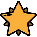rate, Shapes And Symbols, star, Favorite, Favourite, interface, shapes, signs SandyBrown icon