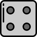 dice, gambling, dices, Game, luck, Casino, miscellaneous LightGray icon