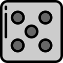 dice, Game, gambling, luck, dices, miscellaneous, Casino LightGray icon