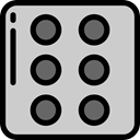 gambling, dices, miscellaneous, luck, Casino, Game, dice LightGray icon