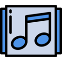song, music, interface, musical note, Music And Multimedia, music player, Quaver Gainsboro icon