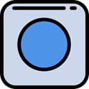 Multimedia, Circle, Circular, button, shapes, rec, Multimedia Option, Music And Multimedia Gainsboro icon