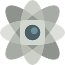 science, nuclear, physics, Atomic, Atom, Electron, education LightGray icon