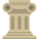 decoration, Art, Antique, Adornment, buildings, Column, Art And Design, Elegant, Ornamental Tan icon