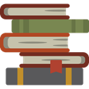 Book, stacked, stack, Science Icons, tool, Books, Library, education, Top View, Stacks DimGray icon