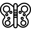Animals, butterfly, Moths, insect Black icon