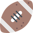 Sportive, Sports Ball, Rugby, sports, Rugby Ball, Sports And Competition, Rugby Game, Ball, American football RosyBrown icon