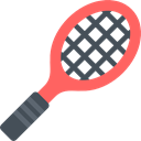 Sportive, tennis, sports, racket, Ball, Sports And Competition Black icon