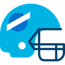 helmet, Protection, equipment, Sportive, Sports And Competition, sports, American football DeepSkyBlue icon