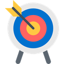 sport, Arrow, sports, archer, weapons, Arrows, Target, Archery, Sports And Competition, objective Lavender icon