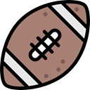 Ball, Sportive, Sports And Competition, Rugby Game, American football, Rugby Ball, Rugby, Sports Ball, sports RosyBrown icon