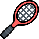 Ball, Sports And Competition, Sportive, racket, tennis, sports Black icon