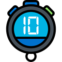 Wait, stopwatch, interface, Tools And Utensils, time, Chronometer, timer Black icon