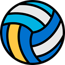 Sports And Competition, sport, Volleyball Equipment, Team Sports, Multisports, Ball, equipment, balls, volleyball, Ball Sports, sports DodgerBlue icon