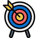 objective, Arrow, Sports And Competition, weapons, Target, Archery, Arrows, archer, sport, sports Black icon