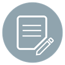 pencile, Edit, update, Note, Article, Circle, Pen DarkGray icon