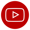 Circle, outline, youtube DarkRed icon