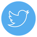 twitter, outline, social-media, Circle CornflowerBlue icon