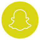 Snapchat, social-media, Circle, outline Gold icon