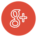 social-media, Circle, outline, plus, google Chocolate icon